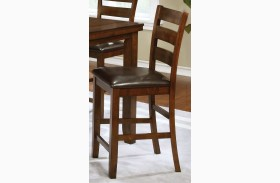 Maxwell Dark Brown and Golden Brown Counter Height Stool Set of 2