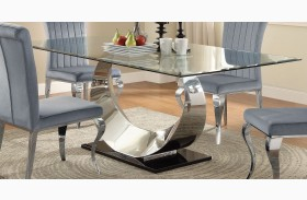 Manessier Chrome Dining Table