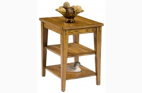 Lake House Oak Tiered Table