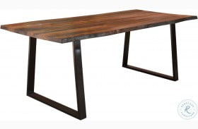 Ditman Grey Sheesham and Black Dining Table
