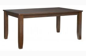 Vintage Sienna Brown Rectangular Leg Dining Table