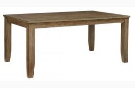 Vintage Weathered Grey Rectangular Leg Dining Table