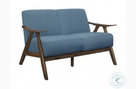 Damala Blue Loveseat