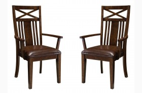 Sonoma Warm Medium Oak Arm Chair Set of 2