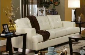 Samuel Cream Queen Sleeper Sofa