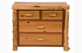 Traditional Cedar 4 Drawer Low Boy