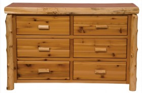 Traditional Cedar 6 Drawer Dresser