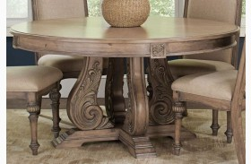 Ilana Antique Linen Round Dining Table