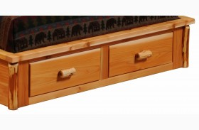 Cedar 2 Drawer Footboard Dresser for Full Platform Bed