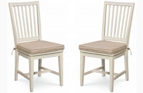 Curated Great Rooms Washed Linen Side Chair Set of 2