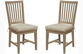 Curated Great Rooms Terrace Gray Side Chair Set of 2