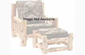 Cedar Log Frame Ottoman For Chair and a Half