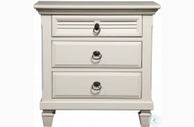 Winchester White 3 Drawer Nightstand