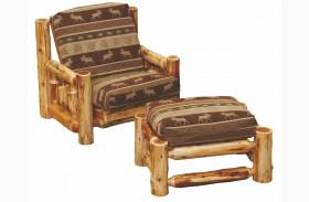 Cedar Futon Chair with Ottoman