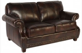 Anna Toberlone Leather Loveseat