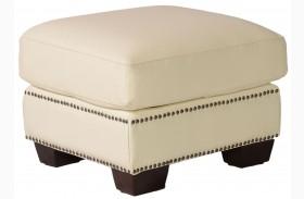 Marilyn White Leather Ottoman