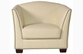 Marilyn White Leather Chair