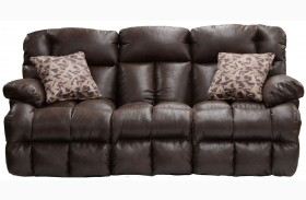 Cedar Creek Sable/Duck Camo Lay Flat Reclining Sofa with Drop Down Table