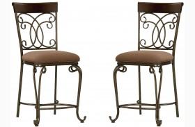 Bombay Dark Cherry Counter Height Chair Set of 2
