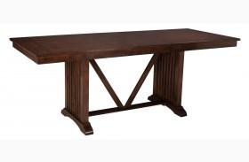 Artisan Loft Warm Medium Oak Rectangular Extendable Counter Height Table