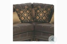 Port Royal Brown Leather Corner Chair