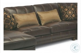 Port Royal Brown Leather Armless Loveseat