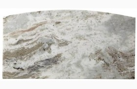 Coastal Living Oasis Grey Birch Lay on Stone Top for Bachelor's Chest