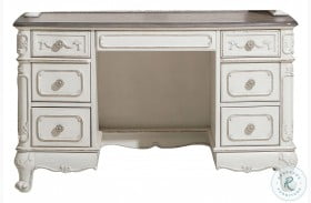 Cinderella Antique White With Grey Writing Desk