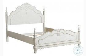 Cinderella Antique White Queen Poster Bed