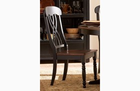 Ohana Black Side Chair Set of 2