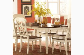 Ohana White Rectangular Extendable Dining Table