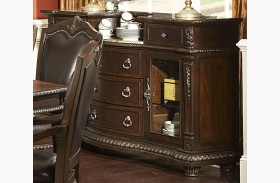 Palace Rich Brown Server With Marble Insert