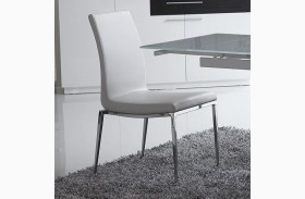 Monique White Stackable Dining Chair Set of 2