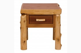Cedar One Drawer End Table