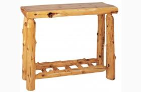 Cedar Brown Sofa Table