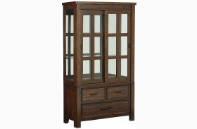 Cameron Golden Tobacco Brown Buffet With Hutch