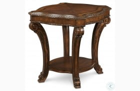 Old World Rich Pomegranate Rectangular End Table