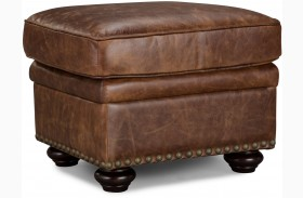 Louis Coco Brompton Vintage Leather Ottoman
