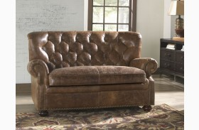 Louis Coco Brompton Leather Loveseat