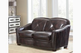 Lucinda Toberlone Leather Loveseat