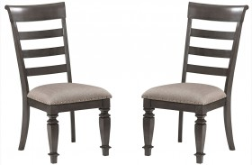 Garrison Burnished Grey Side Chair Set of 2