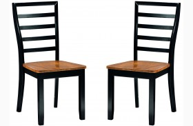 Lexford Two Tone Side Chair Set of 2