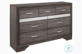 Luster Gray And Silver Glitter Dresser
