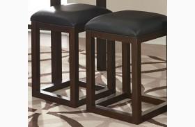 Porter Rich Dark Brown Counter Height Barstool Set of 2