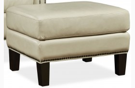 Belle Fairview Stone Leather Ottoman