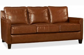 Alexander Berkshire Maple Leather Sofa