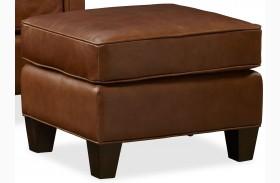 Alexander Berkshire Maple Leather Ottoman