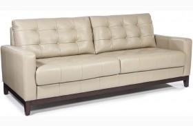Clayton Taupe Leather Sofa