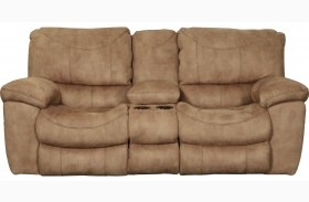 Terrance Caramel Power Reclining Console Loveseat
