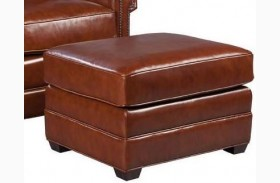 Victor Leather Ottoman